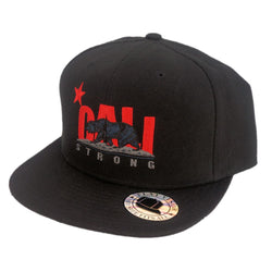 CALI Strong Original Grey Flat Bill Snapback Cap