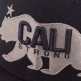 CALI Strong West Coast Grey Black Flat Bill Snapback Cap - Headwear - CALI Strong
