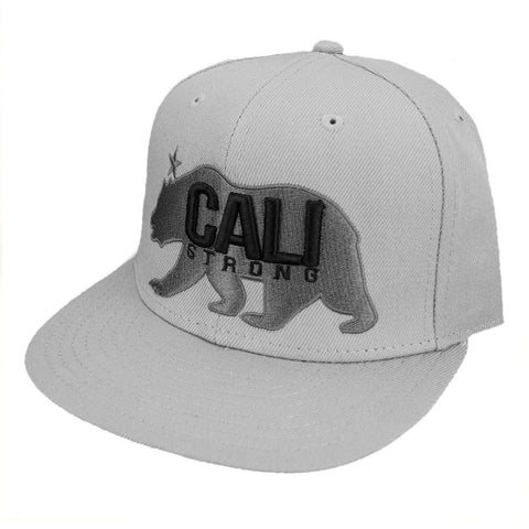 CALI Strong West Coast Grey Flat Bill Snapback Cap - Headwear - CALI Strong