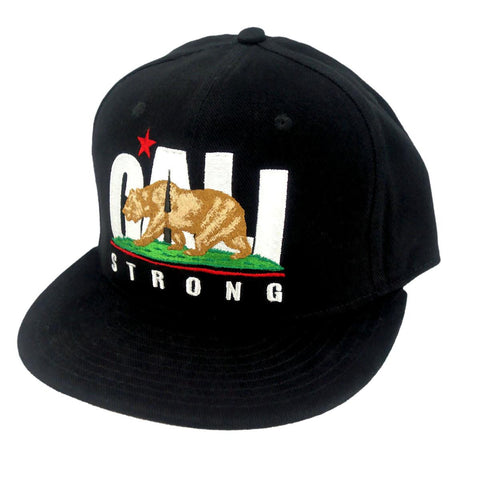 CALI Strong Original Flat Bill Snapback Cap - Headwear - CALI Strong
