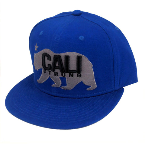 CALI Strong West Coast Blue Flat Bill Snapback Cap - Headwear - CALI Strong