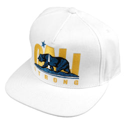 CS Original Bruin White Flat Bill Snapback - Headwear - CALI Strong