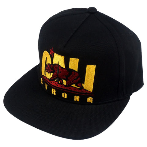 CS Original Trojan Black Flat Bill Snapback - Headwear - CALI Strong