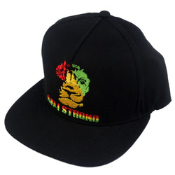 Triangle Rasta Flat Bill Snapback Cap - Headwear - CALI Strong