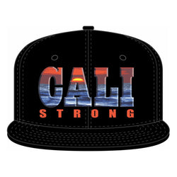 CALI Strong Sunset Flat Bill Snapback - Headwear - CALI Strong