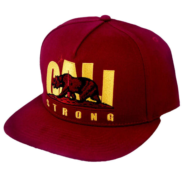 CS Original Trojan Maroon Flat Bill Snapback - Headwear - CALI Strong
