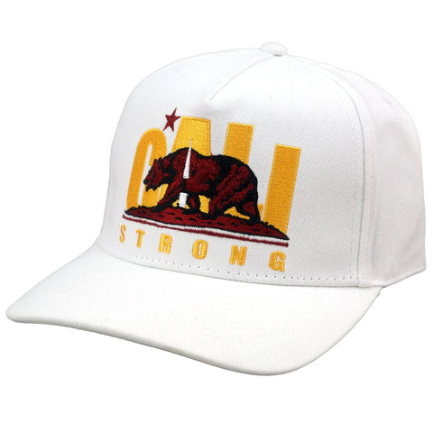 CS Original Trojan White Curved Brim Snapback - Headwear - CALI Strong