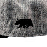CALI Classic Black Grey Heather Flat Bill Snapback - Headwear - CALI Strong
