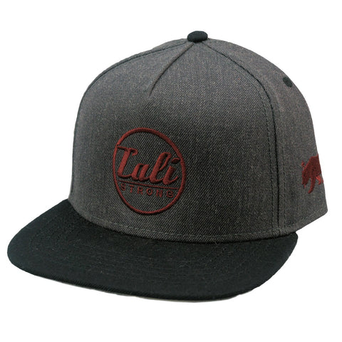 CALI Classic Charcoal Heather Flat Bill Snapback - Headwear - CALI Strong