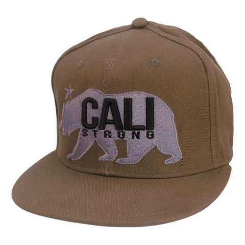 CALI Strong West Coast Tan Flat Bill Snapback Cap - Headwear - CALI Strong