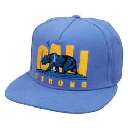 CS Original Bruin Blue Flat Bill Snapback - Headwear - CALI Strong