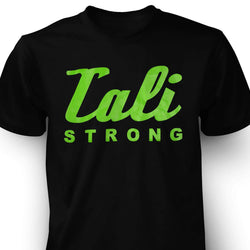 CALI Strong Green Signature Black T-Shirt