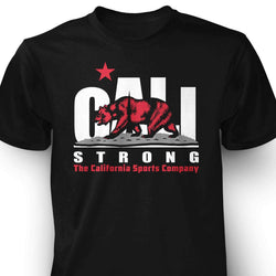 CALI Strong Original White Red T-Shirt - T-Shirt - CALI Strong
