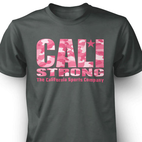 CALI Strong Urban Camo Pink Grey T-shirt - T-Shirt - CALI Strong
