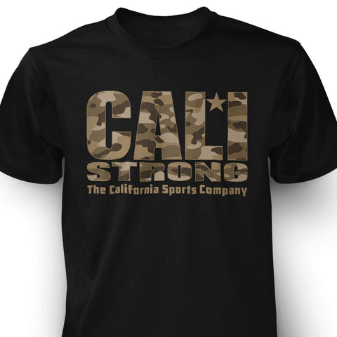 CALI Strong Urban Camo Black T-shirt - T-Shirt - CALI Strong
