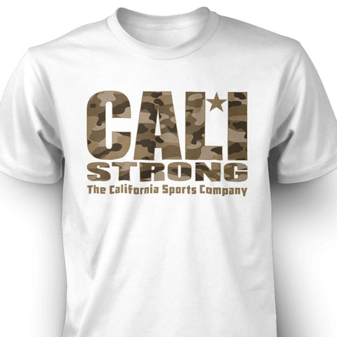 CALI Strong Urban Camo White T-shirt - T-Shirt - CALI Strong
