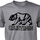 CALI Strong See Thru Bear Grey Heather T-shirt - T-Shirt - CALI Strong