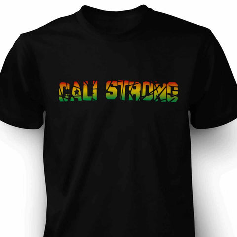 CALI Strong Stamp Rasta T-shirt - T-Shirt - CALI Strong