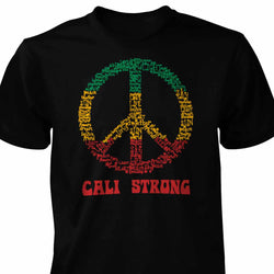 CALI Strong Peace Rasta T-Shirt - T-Shirt - CALI Strong