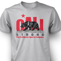 CALI Strong Original Red Grey T-Shirt - T-Shirt - CALI Strong