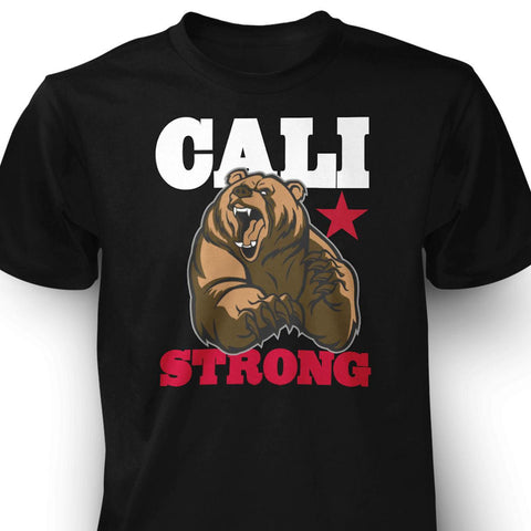 CALI Strong Mean Bear T-shirt - T-Shirt - CALI Strong