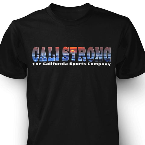 CALI Strong Sunset Black T-shirt - T-Shirt - CALI Strong