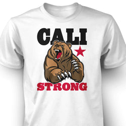 CALI Strong Mean Bear T-shirt White - T-Shirt - CALI Strong