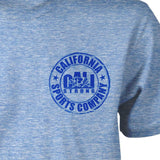 CSC Patch T-shirt Heather Royal Snow - T-Shirt - CALI Strong