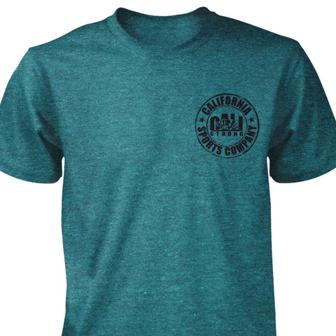 CSC Heather T-shirt Cyan - T-Shirt - CALI Strong
