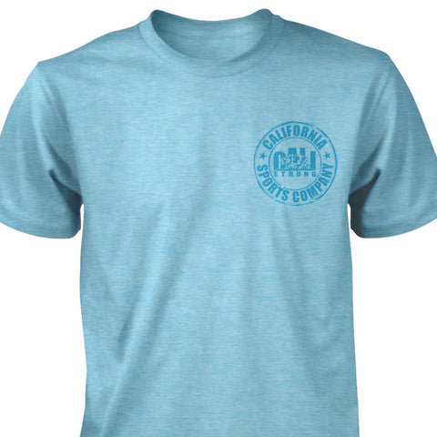 CSC Heather T-shirt Aqua - T-Shirt - CALI Strong
