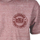 CSC Patch T-shirt Heather Wine - T-Shirt - CALI Strong