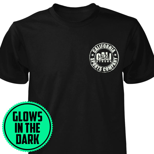 CSC Blue Glow T-shirt Black - T-Shirt - CALI Strong