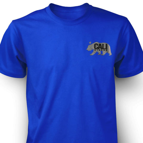CALI Strong West Coast T-shirt Blue - T-Shirt - CALI Strong