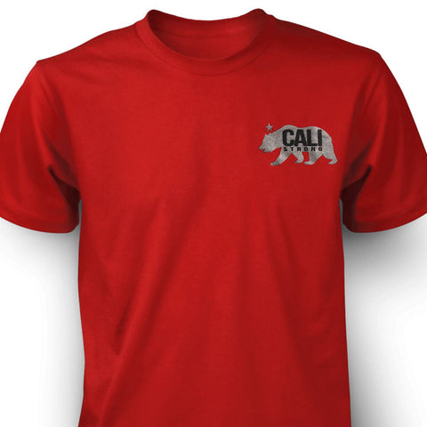 CALI Strong West Coast T-shirt Red - T-Shirt - CALI Strong