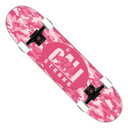 CALI Strong Urban Camo Pink Skateboard Trick Complete