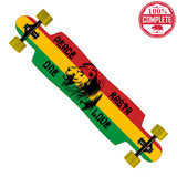 "Freedom Rasta Longboard Drop Through Complete 9.5"" x 42.75"" - Drop Through Longboard - CALI Strong"