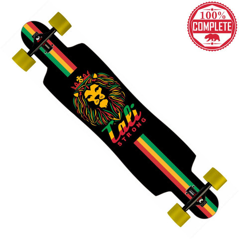 "King Rasta Longboard Drop Through Complete 9.5"" x 42.75"" - Drop Through Longboard - CALI Strong"