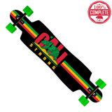 "CALI Strong Rasta Longboard Drop Through Complete 9.5"" x 42.75"" - Drop Through Longboard - CALI Strong"