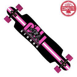 "CALI Strong Original Pink Longboard Drop Through Complete 9.5"" x 42.75"""