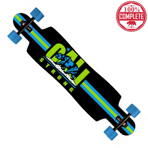 "CALI Strong Original Lime Longboard Drop Through Complete 9.5"" x 42.75"""