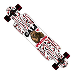 "CALI Strong Mean Bear Longboard Drop Through Complete 9.5"" x 42.75"" - Drop Through Longboard - CALI Strong"