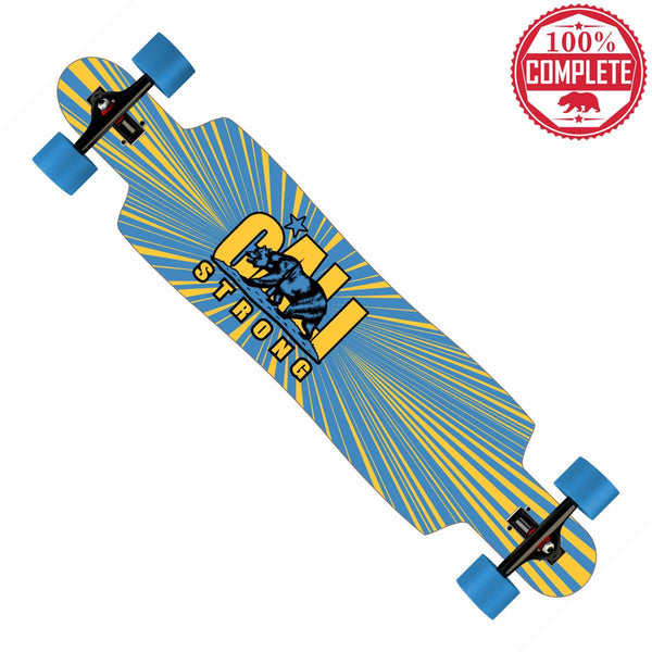 "CALI Strong Original Bruin Longboard Drop Through Complete 9.5"" x 42.75"""