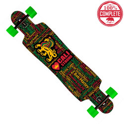 "Kings of Reggae Longboard Drop Through Complete 9.5"" x 42.75"" - Drop Through Longboard - CALI Strong"