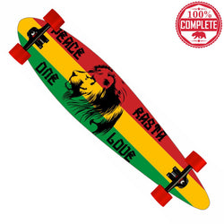 "Freedom Rasta Longboard Pintail Complete 9.25"" x 39.25"" - Pintail Longboard - CALI Strong"