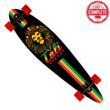 "King Rasta Longboard Pintail Complete 9.25"" x 39.25"" - Pintail Longboard - CALI Strong"