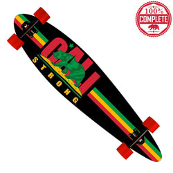 "CALI Strong Rasta Longboard Pintail Complete 9.25"" x 39.25"" - Pintail Longboard - CALI Strong"