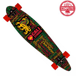 "Kings of Reggae Longboard Pintail Complete 9.25"" x 39.25"" - Pintail Longboard - CALI Strong"