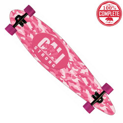 "CALI Strong Urban Camo Pink Longboard Pintail Complete 9.25"" x 39.25"""