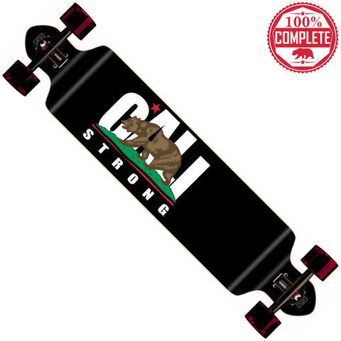 "CALI Strong Longboard Double Drop Through Complete 9"" x 41"" - Double Drop Longboard - CALI Strong"