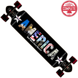 "How Big's Your Brave America Longboard Double Drop Through Complete 9"" x 41"""